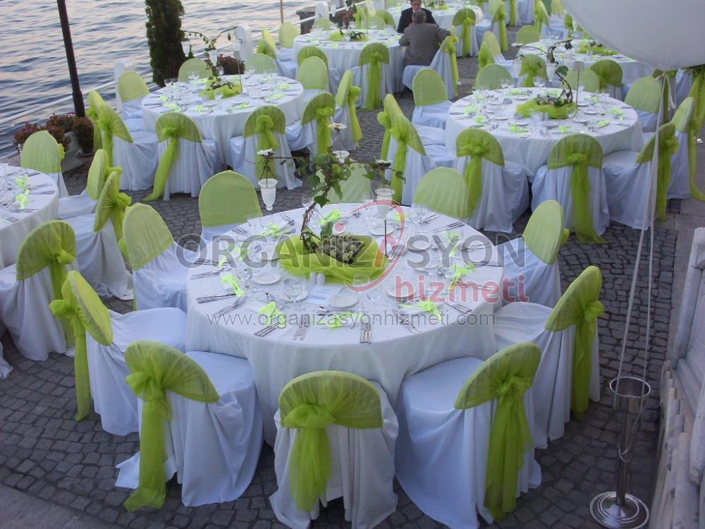 Düğün Organizasyonu Masa Süslemeleri
