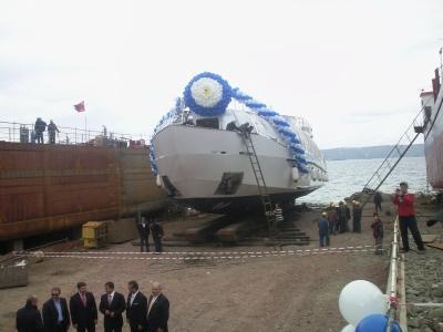 Gemi indirme töreni organizasyonu
