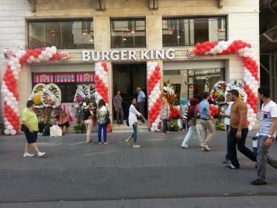 Burger King Açılış Süsleme