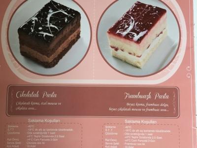 Çikolatalı pasta ve Frambuazlı pasta
