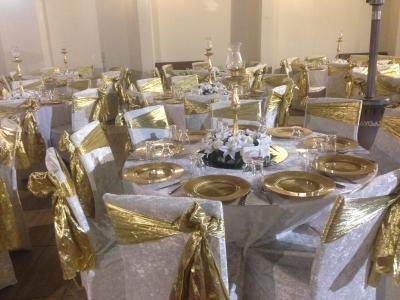 Düğün için masa süsleme