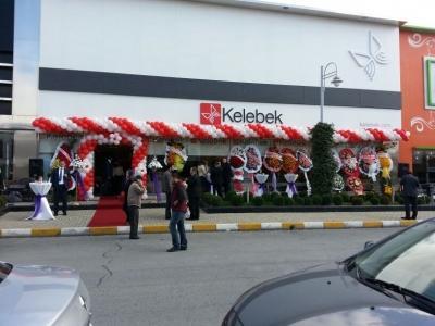Mağaza balon süslemesi