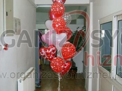 Sevgililer Günü Balon Süsleme