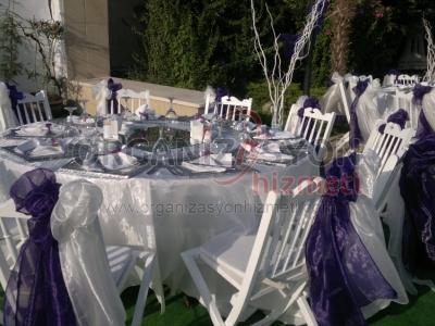 Düğün Masa Sandalye Süsleme